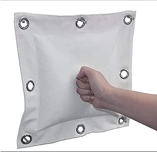 QEES Canvas Punching Bag, Wing Chun Kung Fu Wall Punching Bag, Boxing Training Punch Bag Wall Punching Bag Traget Striking Bag Wall Mounted Sand Punching Bag