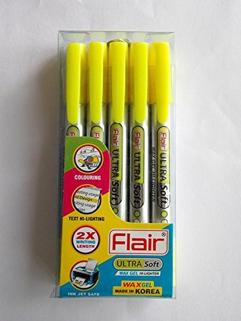 Flair Wax Gel Highlighter (Florescent Yellow) Pack of 5 pc. - Kushuworld