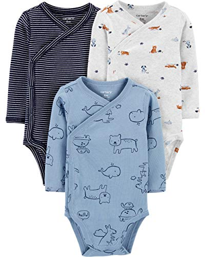 Carter's Baby Boys' 3-Pack Side-Snap Bodysuits