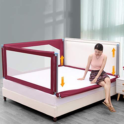 Barandilla de la cama, cerca de cama extra larga, cama antideslizante para...