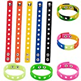 10 Colors Silicone Bracelets Pack For Kids,10 Pcs Adjustable Cute Rubber Wristbands For Boys Girls Croc Shoe Charms Party Favor Gifts