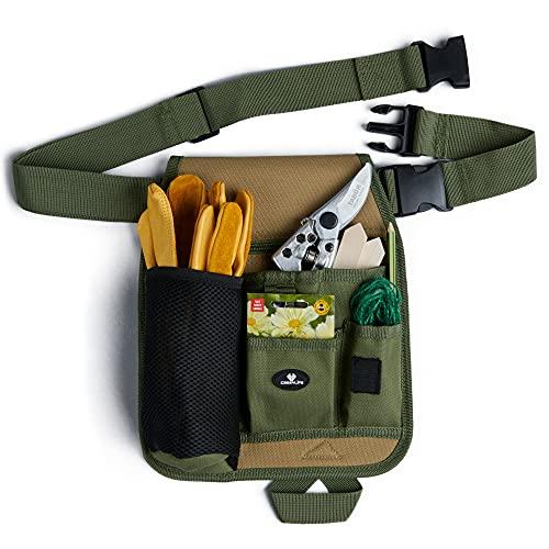 Case4Life - Werkzeuggürtel für Gartenwerkzeug - Größenverstellbare Werkzeugtasche Gürtel für Gärtner, Floristen - Einheitsgröße