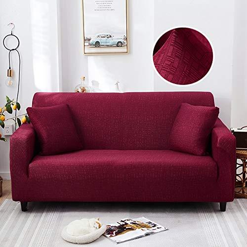 WXQY Funda de sofá elástica Moderna Sala de Estar Funda de sofá Antideslizante Esquina en Forma de L cojín Protector combinación de Funda de sofá A25 1 Plaza