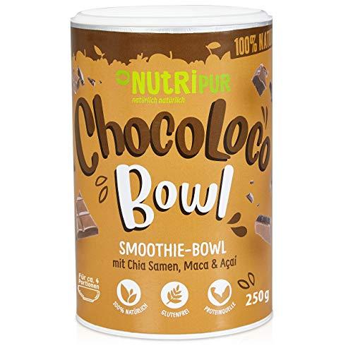 Smoothie Bowl: 250g Choco Loco Porridge Schoko mit Quinoa, Chia Samen, Acai, Kakao uvm. – Superfood Porridge fürs Frühstück und als Snack – Glutenfrei, vegan – Schokolade Müsli Mischung von NutriPur