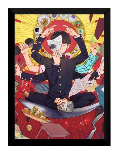 Quadro Anime Mob Psycho 100 Arte Poster Moldurado