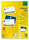 Sigel LP853 - Tarjetas de visita, 3C impresión por las dos caras, 85x55 mm (A4), 250 g, 100 unds.=10 hojas