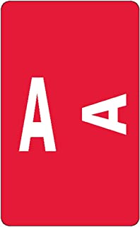 Smead AlphaZ ACCS Color-Coded Alphabetic Labels, Letter A, Red, 100 per Pack (67171)
