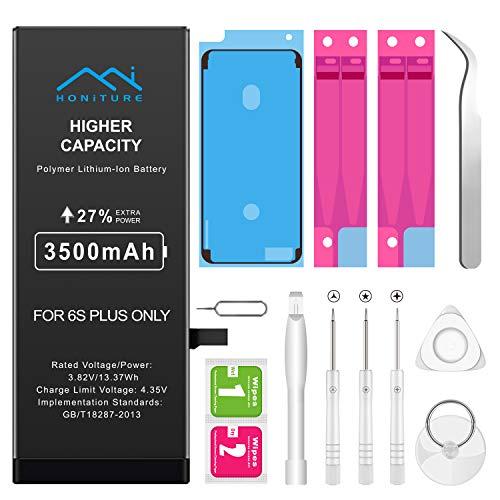 iPhone 6s Plus Akku 3500mAh, HONITURE Ersatzakku für iPhone 6s Plus hoher Kapazität mit 27% inkl. Werkzeugset und Reparaturset Akku-Austausch Anleitung Batterie 0 Zyklen