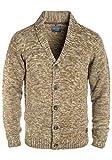 BLEND Tigre Cárdigan Chaqueta De Punto Grueso para Hombre con Cuello Esmoquin, tamaño:L, Color:Mocca Mix (70816)