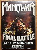 Vinylnerds Manowar Konzert Plakat A1 München Zenith