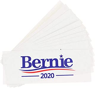 Beautymei 10 Pcs Bernie Sanders 2020 Election Presidential Campaign Bumper Sticker Auto Decals, 3x8 Inch