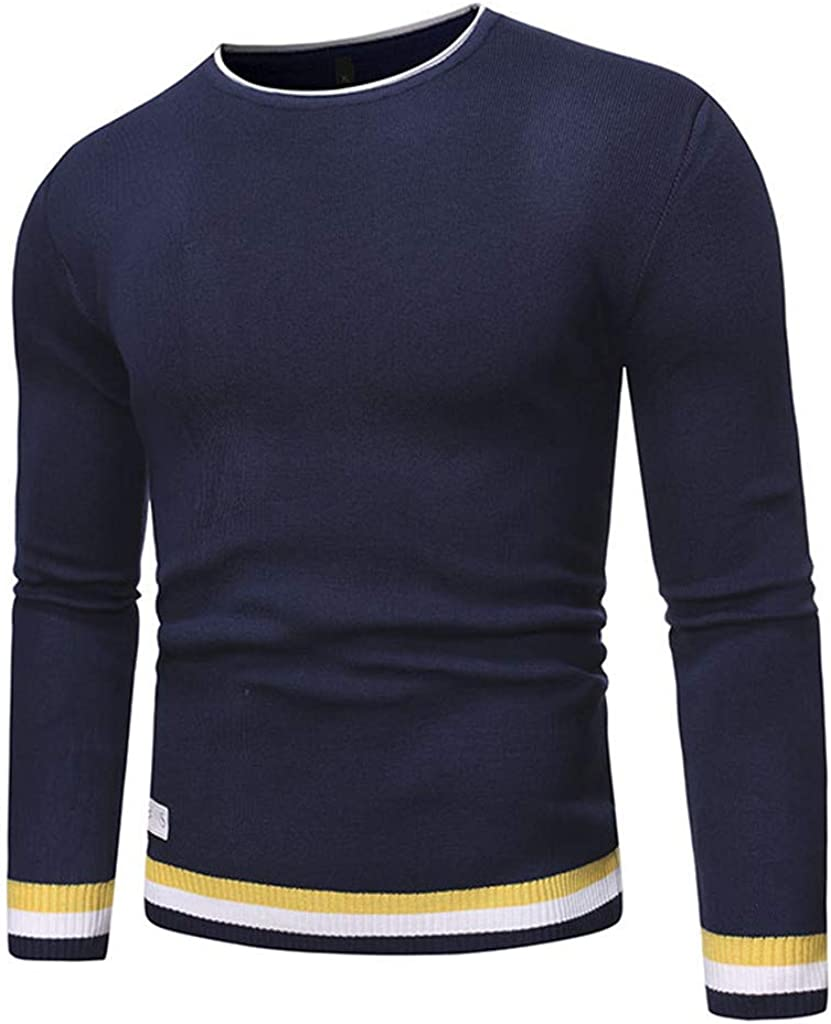 NotingBuss Mens Casual Slim Fit Pullover Sweaters Knitted Tops Lightweight Longsleeve Basic Designed
