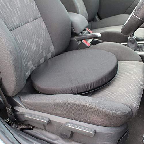 Cojín giratorio para asiento de coche, con memoria, para silla giratoria, ayuda a la movilidad en casa, oficina, cojín giratorio de espuma viscoelástica