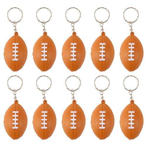NUOBESTY Rugby Schlüsselanhänger aus Leder, Schlüsselanhänger, Handtaschen, Anhänger Ballon, Spiel, Fan, Andenken für Partner, Karneval, Schule, 15 Stück