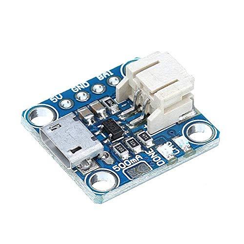 CLJ-LJ 3.7 V 4.2 V 5 100 mA Micro-Lipo Cargador USB Batería Junta de Carga Micro-B Conector Litio para LiPoLiIon V1 controlador de módulo de voltaje