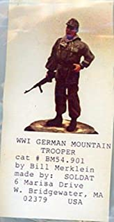 Soldat 1:32 54mm WWI German Mountain Trooper - Metal Figure Kit #BM54901