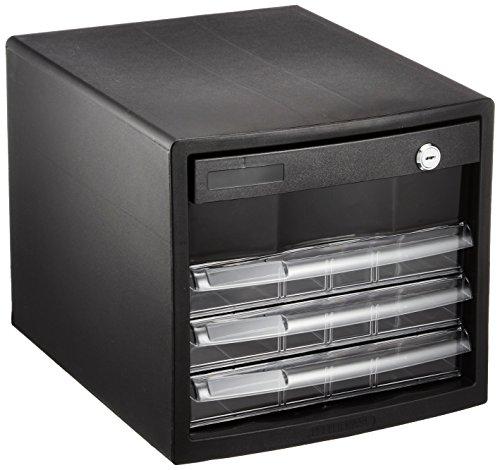 ナカバヤシ A4レターケース 書類入れ 仕切板対応 K4段 ブラック A4E-SK4B