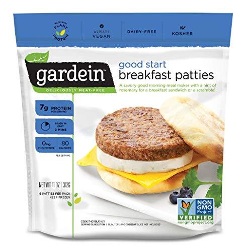 Gardein Good Start Meatless Breakfast Patties, Meatless Protein Packed Patties, 6 Count (Frozen)