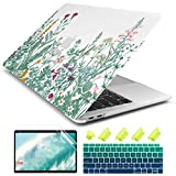 Dongke for MacBook Air 13 Inch Case 2020 2019 2018 Release Model: A2337 M1/ A2179/A1932, Frosted Matte Clear Hard Shell Cover for MacBook Air 13' with Retina Display & Touch ID (Garden Floral)