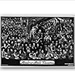 yhnjikl Rock Roll Theater Rockmusik Collage Malerei Poster