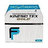 Kinesio Tape, Tex Gold FP, 2' x 34 yds, Blue, Bulk Roll