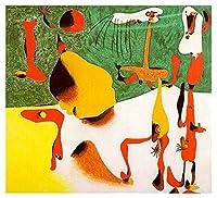 数字ジョアン・ミロ 油絵 複製画 絵画 インテリア アートフレーム 複製絵 絵画 プレゼント-リビング、ダイニング、寝室、お風呂、オフィス、バー(55x59cm-22x23inch、フレームなし)