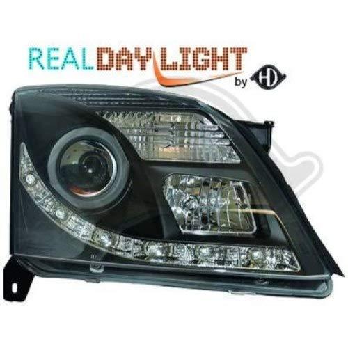 in. pro. 1825586 haute définition Tête lumières avec authentique Feux de Jour lumière du jour clair, noir