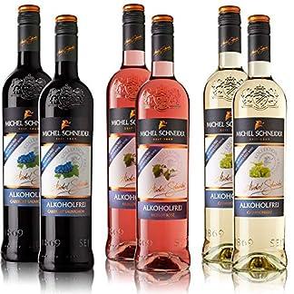 6-Flaschen-Michel-Schneider-Rose-Weiss-Rotwein-Mischpaket-6-x-075-l-alkoholfreie-Weine