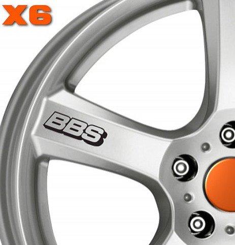 SUPERSTICKI® 6 x BBS Felgenaufkleber Aufkleber Autoaufkleber Sticker Tuning Vinyl UV& Waschanlagenfest Tuningsticker