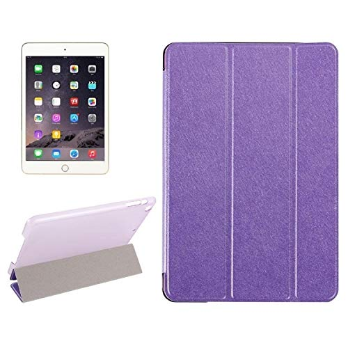 Leather Case Silk Texture Horizontal Flip Leather Case with Three-Folding Holder for IPad Mini 2019 Movoo (Color : Purple)