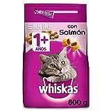 Whiskas Pienso para gatos adultos esterilizados con sabor a salmón (Pack de 5 x 800g)
