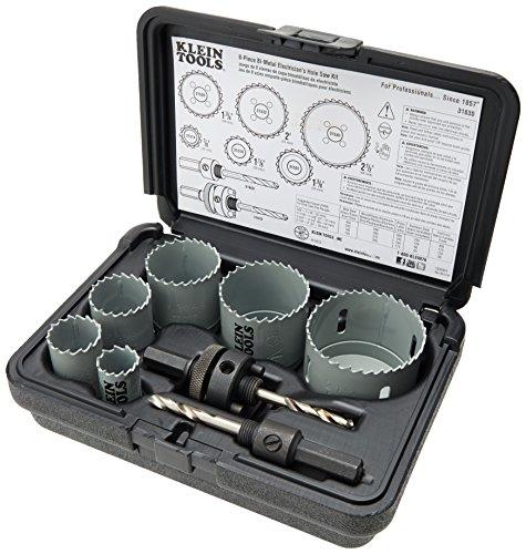 Klein Tools 31630 8-Piece Hole Saw Kit