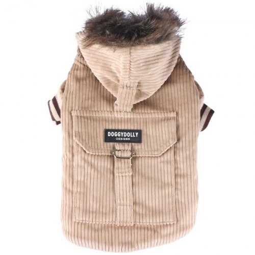 Doggydolly Hundemantel in Cord beige