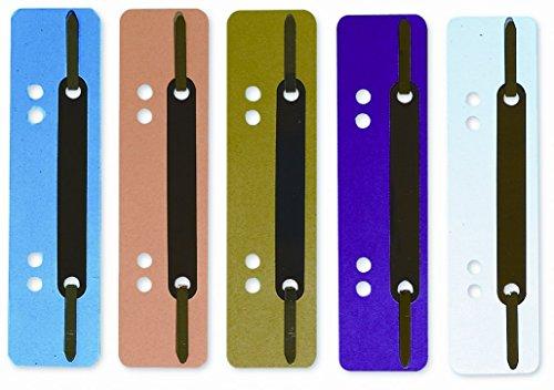 ELBA 100560150 Einhänge-Heftstreifen 250 Stück aus PP-Kunststoff Deckleiste aus PP Farbig soriert