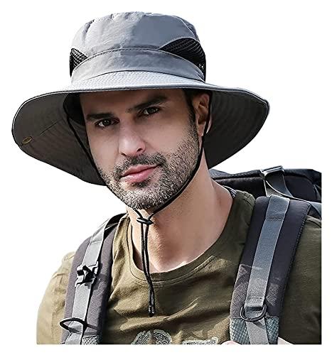 Hombres Ancho Sombrero Sombrero Protección Playa Sombrero Sombrero Vaquero Sombrero Ligero Plegable Sombrero de Pesca Vacaciones Viajes Viajando A Impermeable Playa Actividades al aire libre Ajustable
