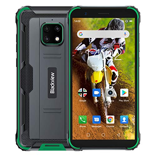 Blackview BV4900 Rugged Smartphone (2020), IP68 Impermeabile, Dual SIM 4G Android 10.0 Cellulare Militare HD+ da 5,7 Pollici, 3GB RAM+32GB ROM 128 GB Expandable, 5580mAh, NFC,GPS