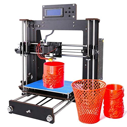 3D Printer, Upgrade I3 DIY LCD Screen Self-Assembly Desktop 3D Printer Kit with 1.75mm ABS/PLA Filament