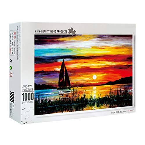 NEWHE 1000 Pieces Jigsaw Puzzles,Buliding Landscape Pattern Picture Puzzles,Puzzles Game for Fun, Relaxing and Challenging,for All Ages Family Adult Teens Children (A)