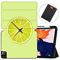 MAITTAO Case For iPad Pro 12.9 inch 4th Gen 2020 Release,Support Apple iPad Pencil Holder & Wireless Charging, Soft TPU Back Shell Stand Smart Cover Tablet Sleeve 2 in 1 Bundle,Cute Fresh Creative 10