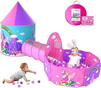 Wilwolfer Unicorn Princess Castle Play Tent