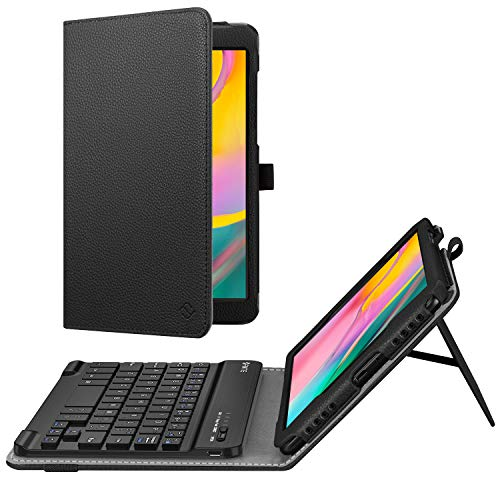 Fintie Folio Keyboard Case for Samsung Galaxy Tab A 8.0 2019 Without S Pen Model (SM-T290 Wi-Fi, SM-T295 LTE), Premium PU Leather Stand Cover with Removable Wireless Bluetooth Keyboard, Black