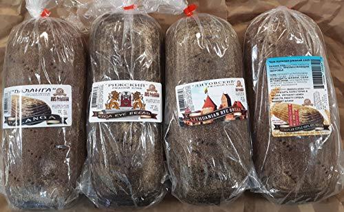 European Bread Sampler Includes 4 Loaves {European Rye, Lithuanian Rye, Riga Rye, & Palanga Rye}