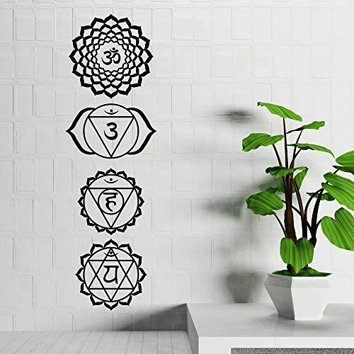 HGFDHG Vinilo decorativo para pared, diseño de mandala en sánscrito, decoración de dormitorio, yoga, para ventana, decoración de dormitorio