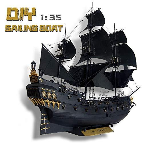"""TOSUAI Rompecabezas 3D 1:35 Barco Pirata 45.2""""Modelo De Embarcación D"""