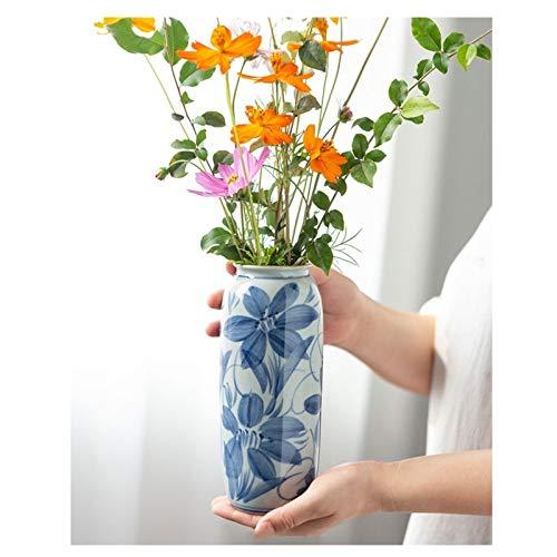 Decorativos Modernos Jarrones Cerámica Arreglo de cerámica florero de la vendimia creativa hecha a mano ilustraciones de escritorio planta hidropónica de contenedores de flores Florero Contenedor Flor