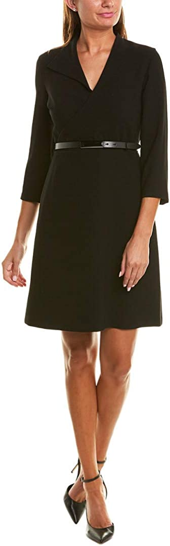 Elie Tahari Womens Faux Wrap Mini Cocktail Dress
