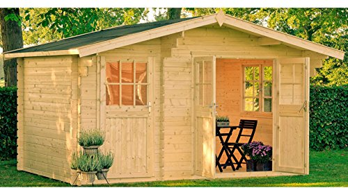 OUTDOOR LIFE PRODUCTS Gartenhaus Belmont 1, BxT: 380x250 cm, 28 mm Natur