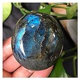 YSDSPTG Piedras Naturales 1 UNID 50-200G Labrador de Piedra Pulido de Cristal Natural Usado para el hogar, el jarrón, la decoración del Acuario Muy Espiritual (Size : 150 200g)