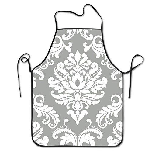N\A Tablier de Cuisine Tablier de Cuisine Tabliers à bavette Ariel Tablier de Chef Gris Accueil Entretien Facile pour la Cuisine, Le Barbecue et Le Gril