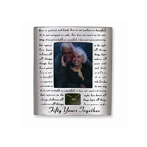 Roman 50th Wedding Anniversary Picture Photo Frame Love Never Fails